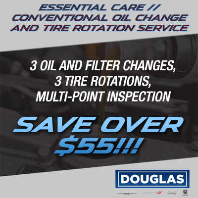 ESSENTIAL CARE // CONVENTIONAL OIL CHANGE & TIRE ROTATION