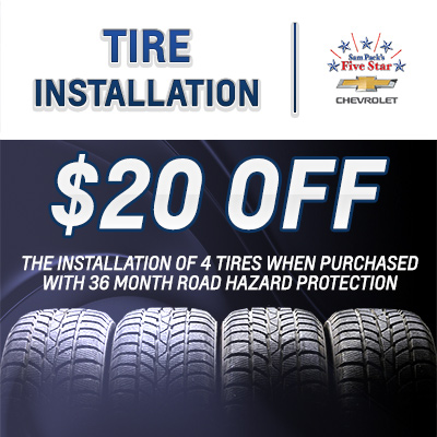 Tire Installation Coupon