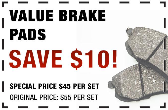Value Brake Pads