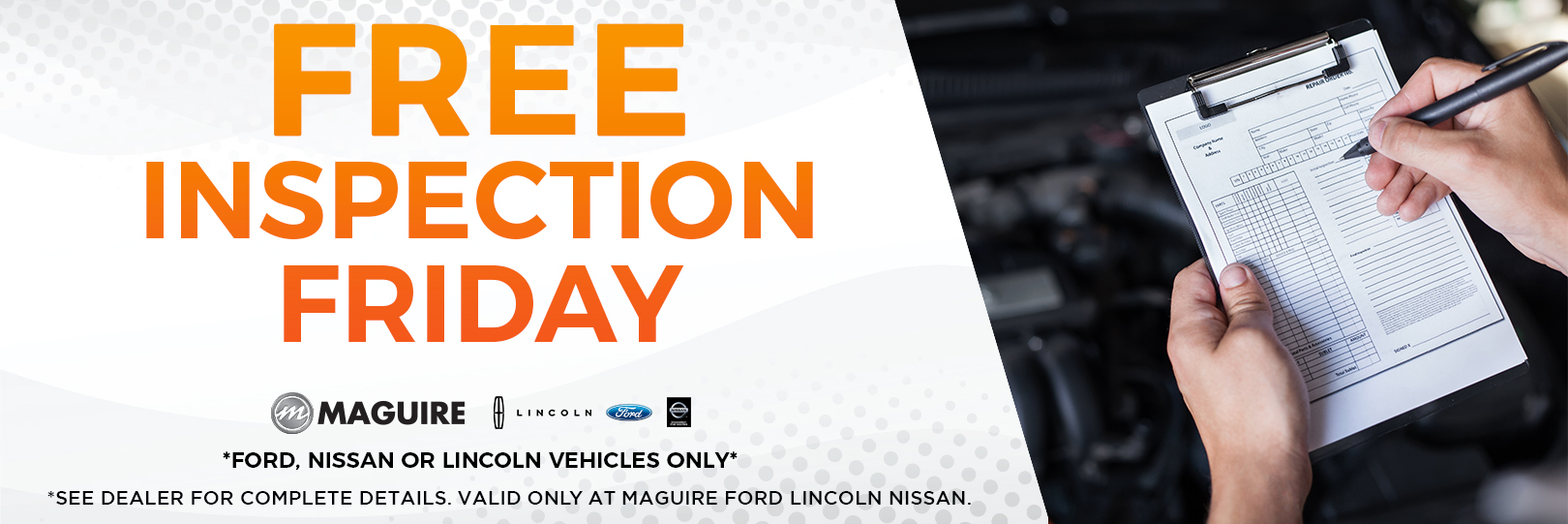 Free Inspection Friday!