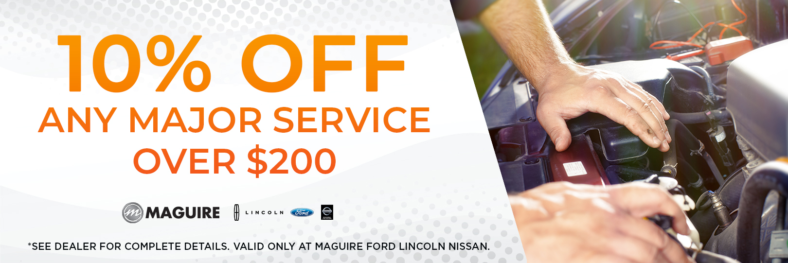 10% OFF ANY MAJOR SERVICE OVER $200