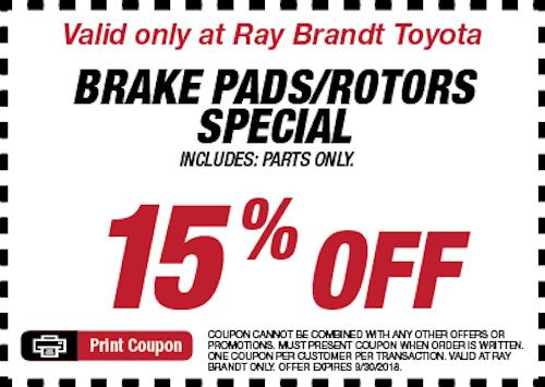 Brake Pads/Rotors Special