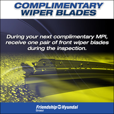 Complimentary Wiper Blades