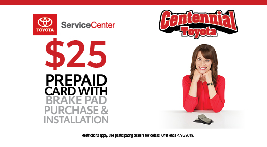 $25 Prepaid Card with Brake Pad Purchase & Installation