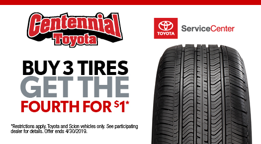 Buy 3 Tires Get the Fourth for $1*