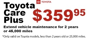 ToyotaCare Plus Extend The Life Of your Maintenance