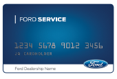 WHEN YOU USE THE FORD SERVICE CREDIT CARD