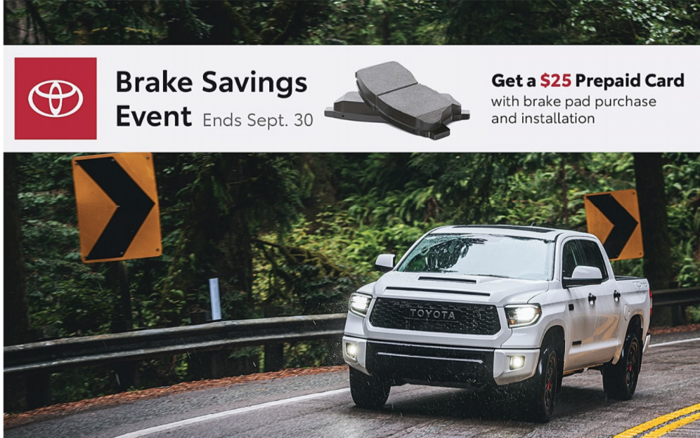 BRAKE SAVINGS EVENT