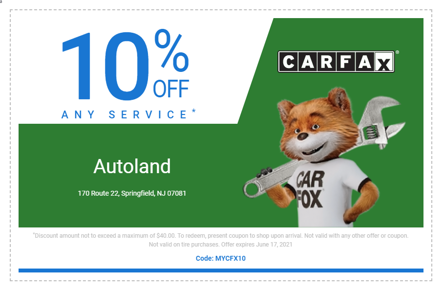 Carfax Service Special