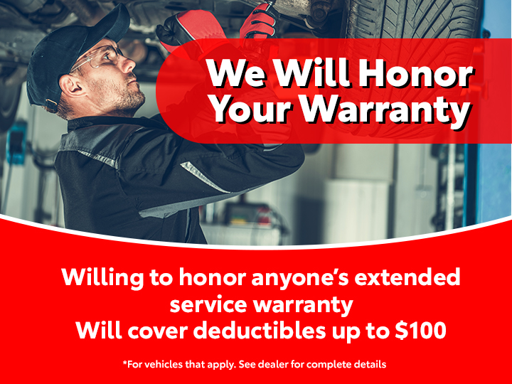 We Will Honor Your Warranty