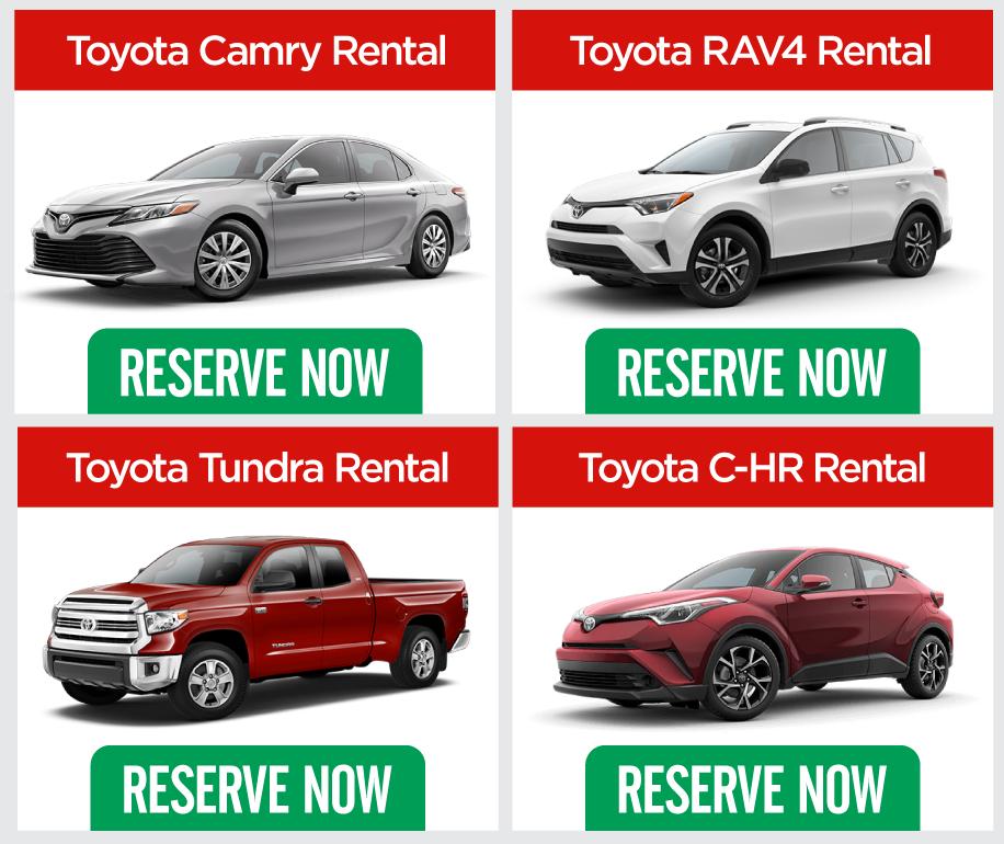 Charming Toyota Rental Car Information