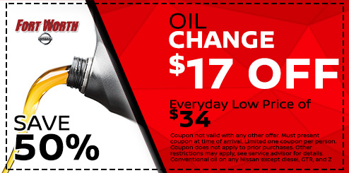 Amazing Nissan Oil Change In Fort Worth By Factory Trained Technicians HALF OFF THE  REGULAR PRICE Starting At Just $17! Good On Any Nissan, Whether You  Purchased ...
