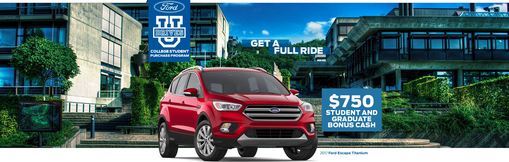 Ford drives u college student purchase program