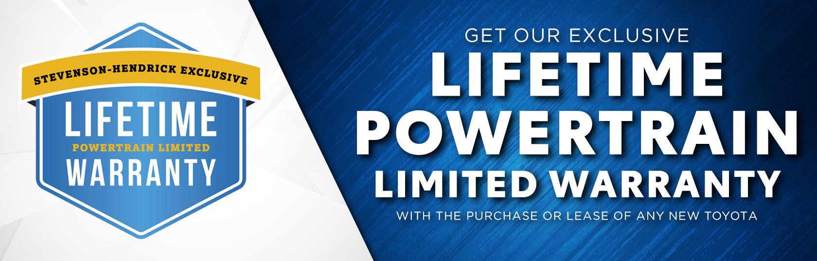 Lifetime Powertrain Warranty >> Lifetime Limited Warranty Stevenson Hendrick Toyota Jacksonville