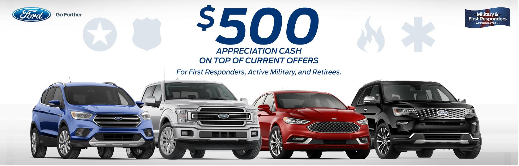 Ford First Responder >> 500 Appreciation Cash Deacon Jones Ford Of Goldsboro
