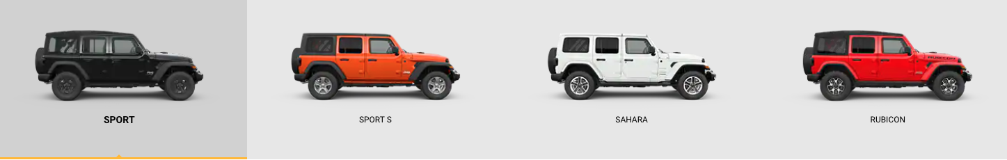 2018 Jeep Wrangler Models