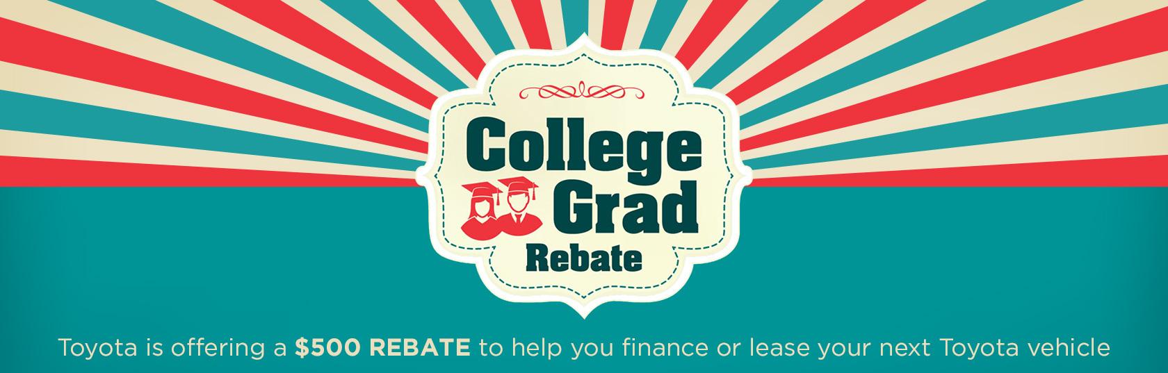 College Grad Rebate Banner