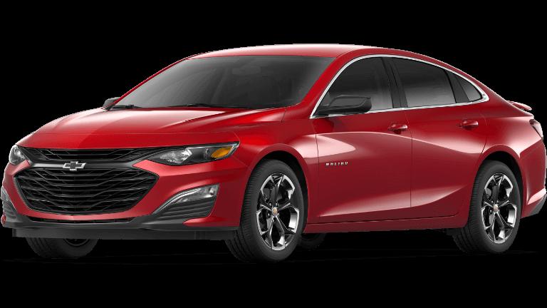 Red 2019 Chevrolet Malibu RS