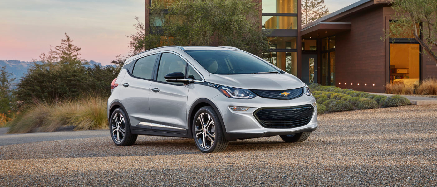 2019 Chevy Bolt EV exterior parked outside home