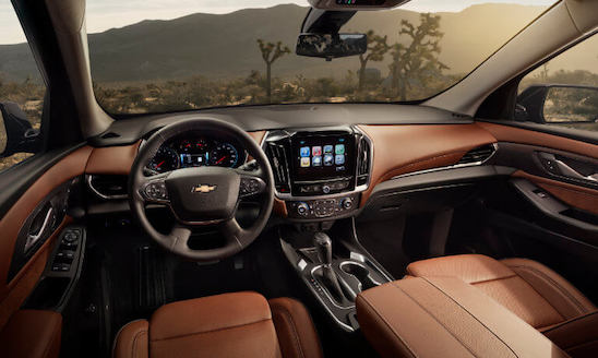 2019 Chevy Traverse Interior view car in desert specs