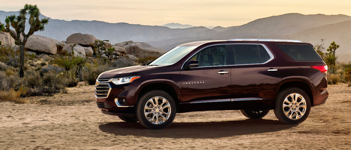 2019 Chevy Traverse Exterior in Desert Black Currant side