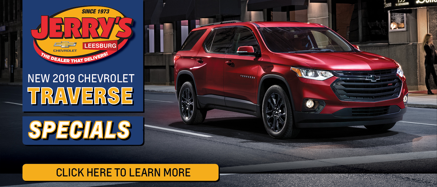 2019 Chevy Traverse Red Exterior Specials ad