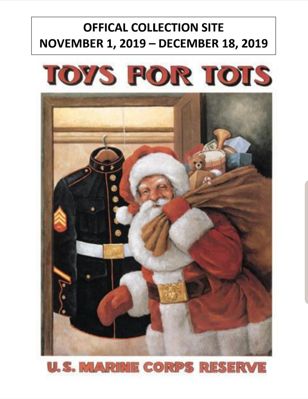 Toys For Tots of Union County Flyer