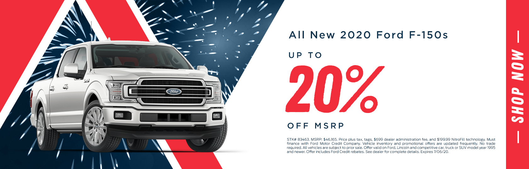 All New 2020 Ford F-150s Up To 20% Off MSRP