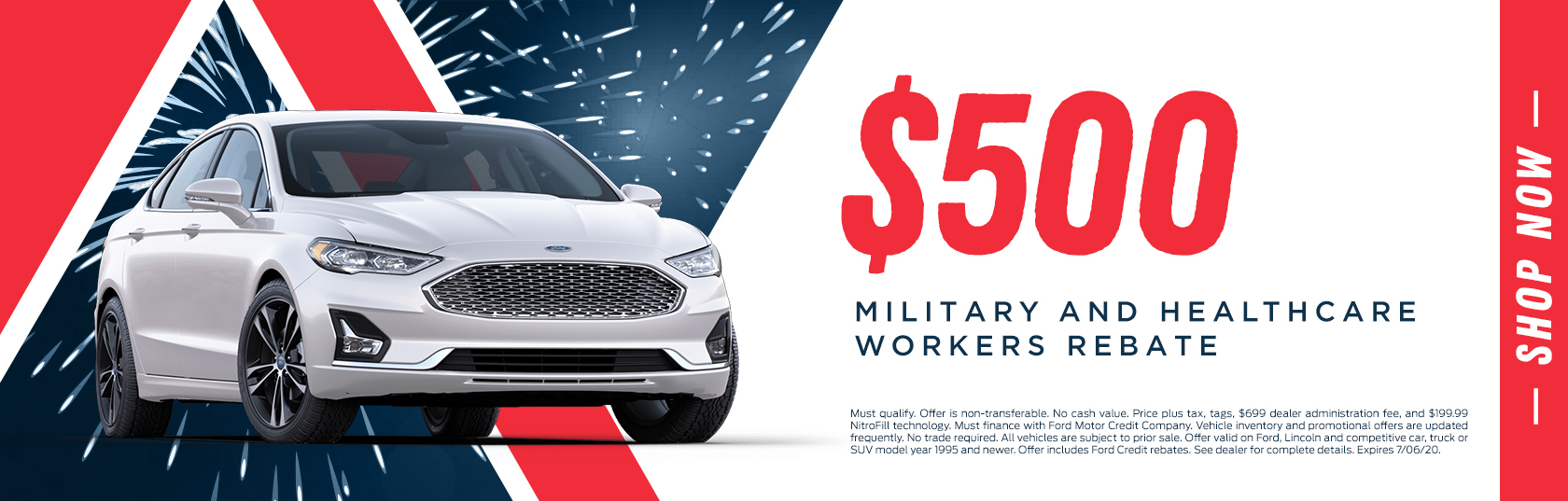$500 Military and Healthcare Workers Rebate