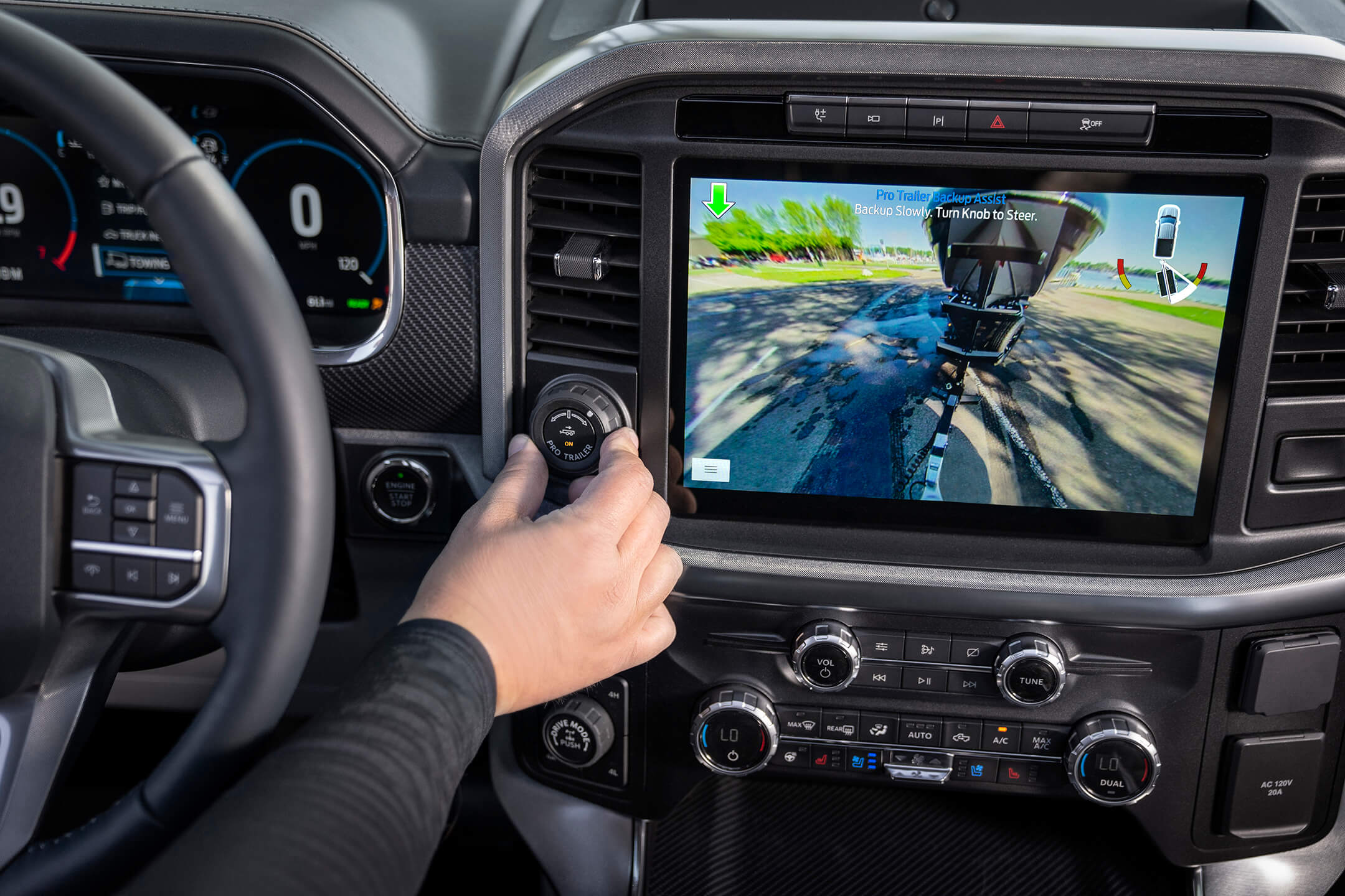 ford f150 backup assist view