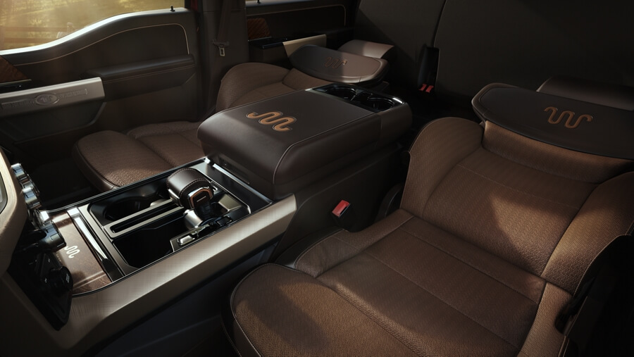 Ford F-150 center console view
