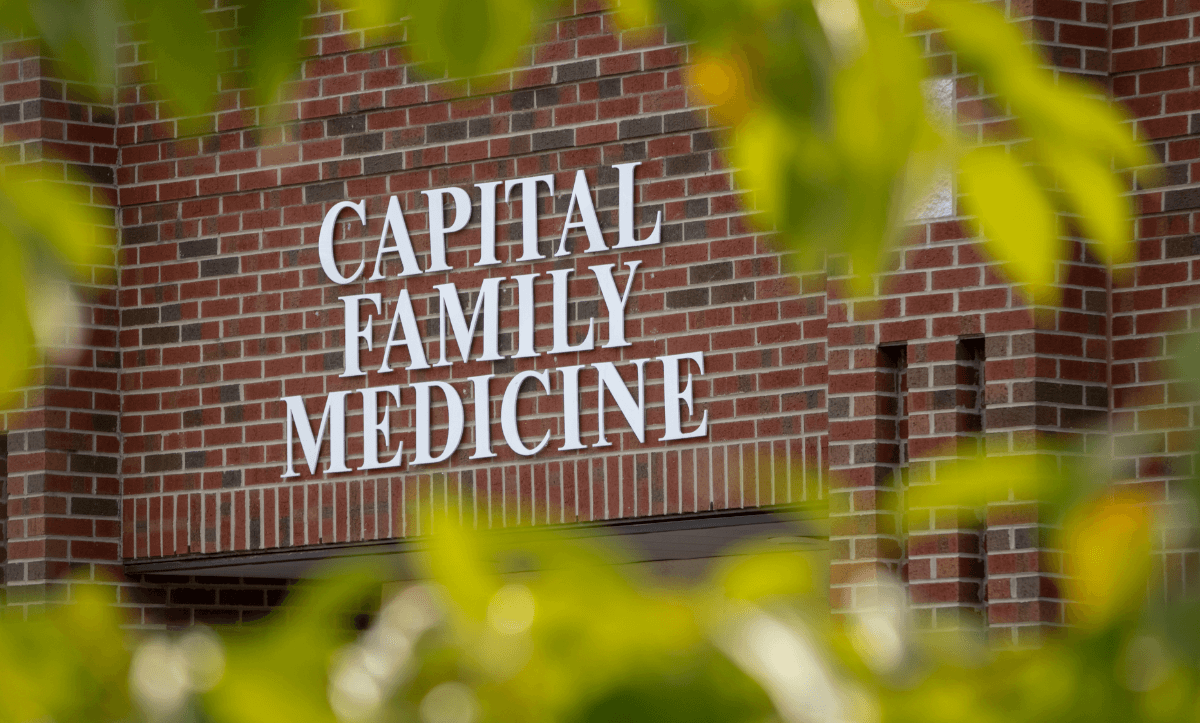 Capital Family Medicine sign outside their building