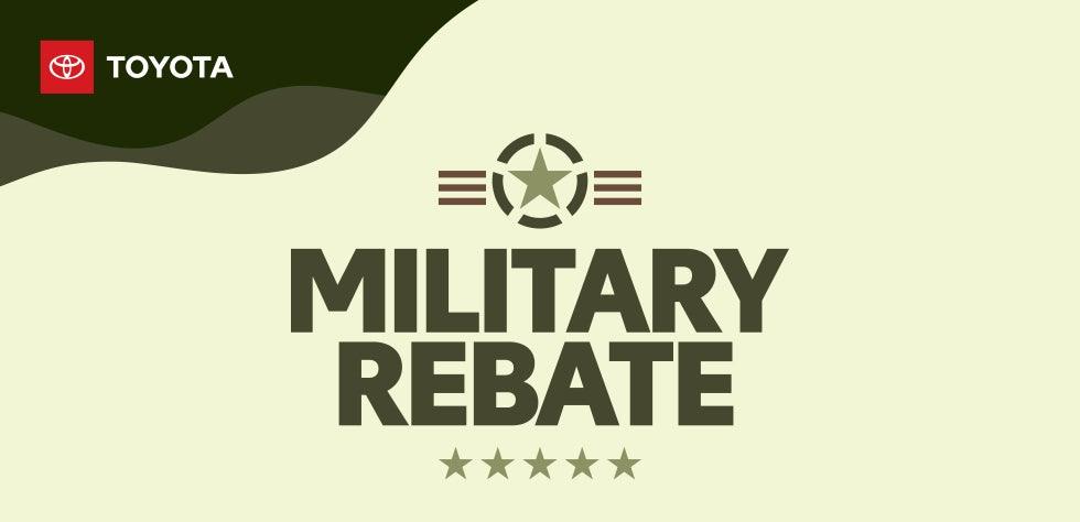 Military Rebate Match