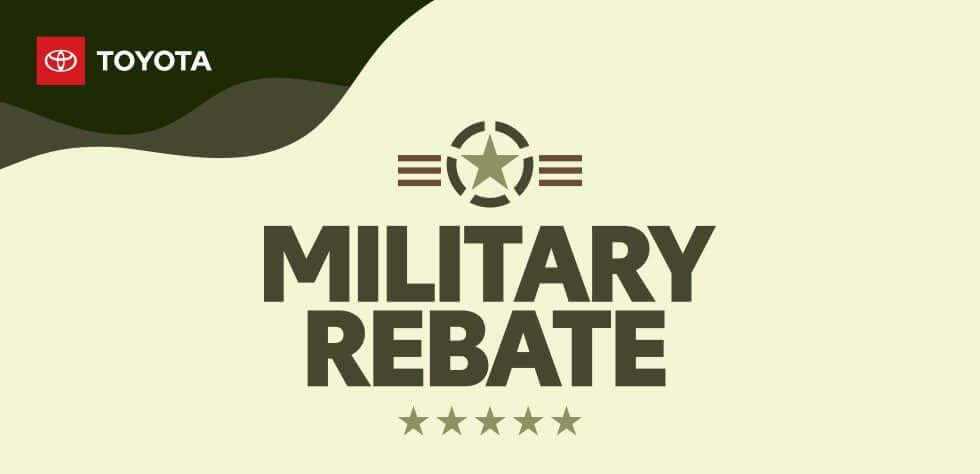 Military Rebate flyer