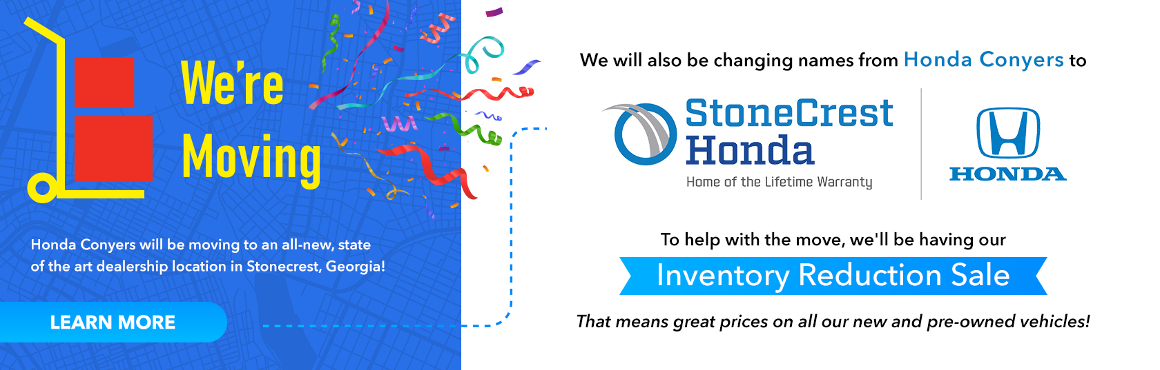 We're Moving Sale Image Banner