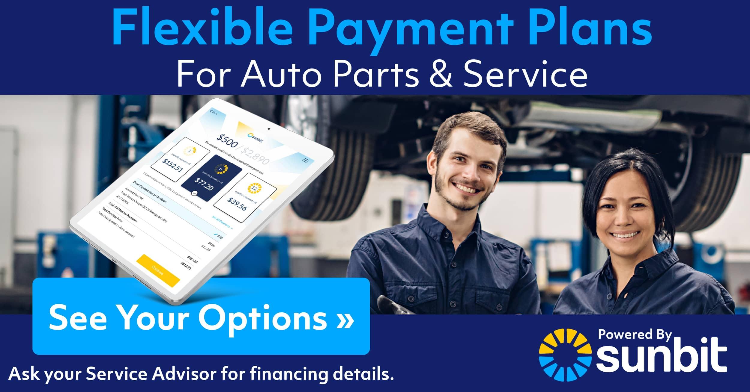 Sunbit Flexible Payment Plans