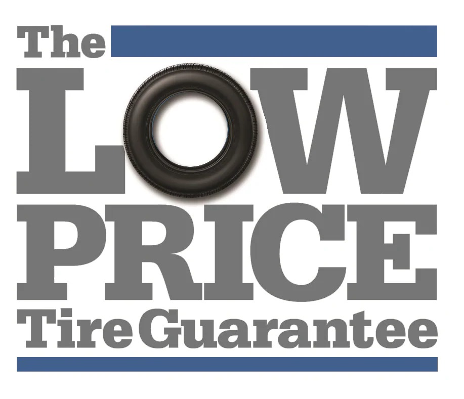 The low price tire guarantee banner