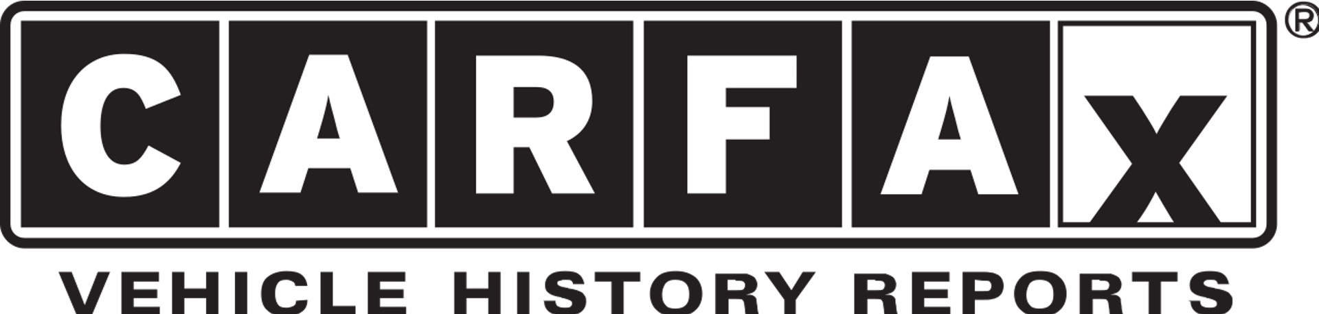 CARFAX logo that reads: CARFAX VEHICLE HISTORY REPORTS in black and white colors