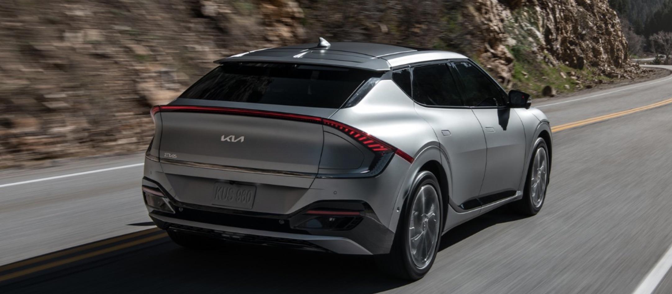 Driving the 2022 Kia EV6 around the streets of North Brunswick.