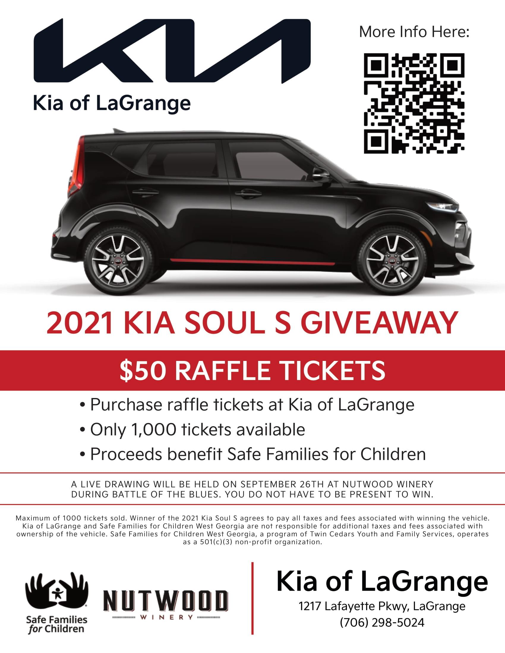 kia soul giveaway flyer