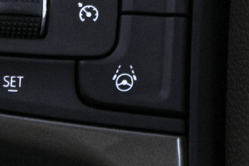 Super Cruise button in vehicle