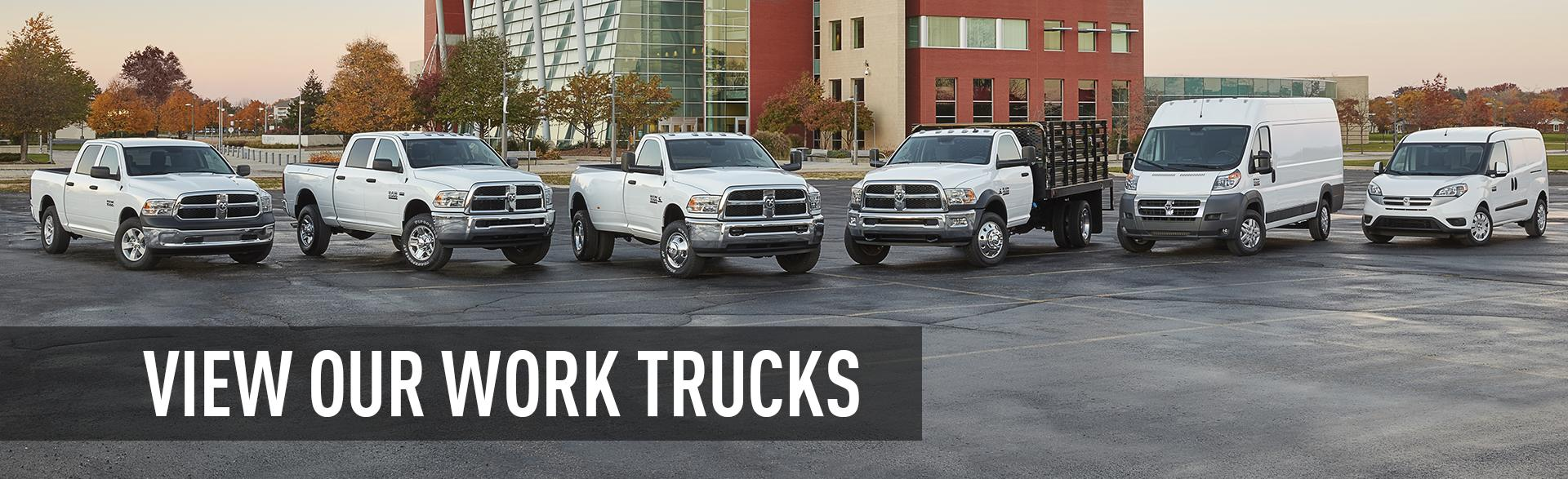 Work Trucks Banner
