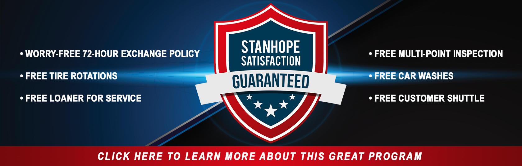 Stanhope Satisfaction Banner