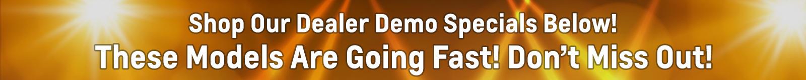 demo specials SR